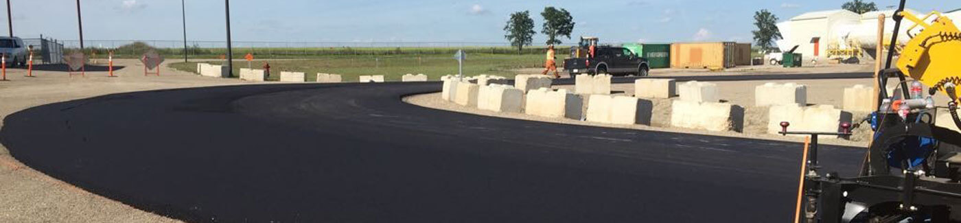 Fresh Blacktop Road Construction In Progress